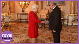 The Queen Greets Maltese President George Vella at Buckingham Palace