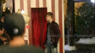 "EXCLUSIVE: ""Under The Mistletoe"" New Music Video Shoot (Justin Bieber)"