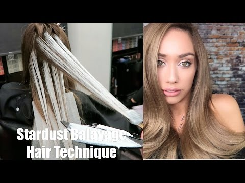 Stardust Balayage Hair Technique