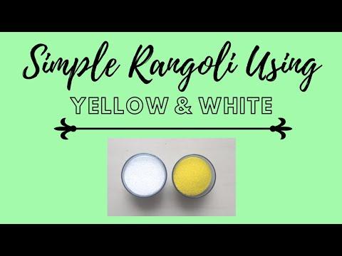    Beautiful Rangoli Design Using White And Yellow Color    Shradz Happy Place   