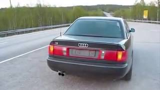 Audi 100 c4 по черниговской трассе(Тест-драйв Audi 100 c4., 2014-09-21T12:55:57.000Z)