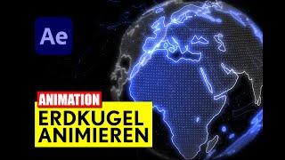 After Effects: Planet Erde Animation - ohne Plugins - Tutorial - deutsch