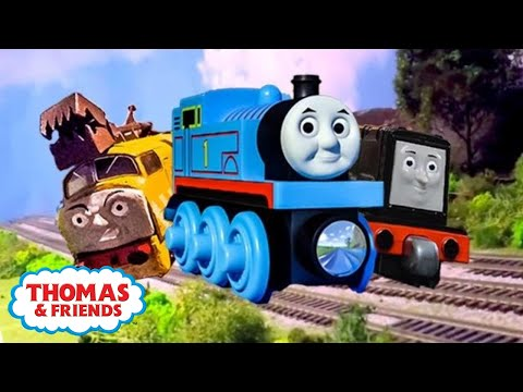 thomas and friends play doh diggin rigs accident crash