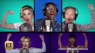 Eva Longoria, Connie Britton, Sia And More Stars Sing 'Fight Song' For Hillary Clinton At DNC