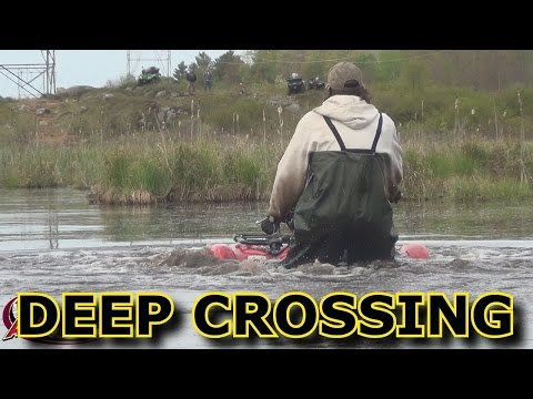 YAMAHA GRIZZLY DEEP WATER CROSSING....CANADA LONG WEEKEND PT 1