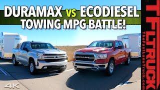 What's The Most Fuel Efficient Truck? 2020 Silverado vs Ram 1500 Diesel MPG Shootout!