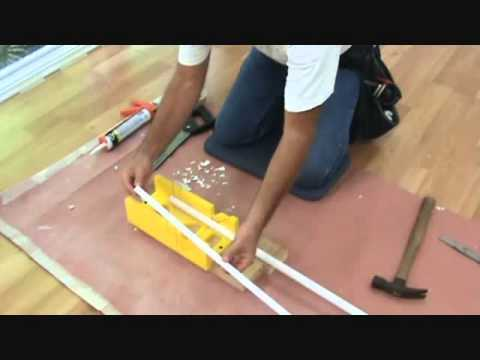 Cutting Quarter Round Trim For A Laminate Floor Youtube