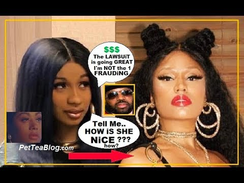 Cardi B says Nicki Minaj aint NiCE to her & Lawsuit from Manager is going GREAT 🐸☕