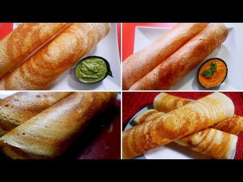 4 healthy high protein dosa varieties | variety of dosa |dosa varieties in tamil | breakfast recipes