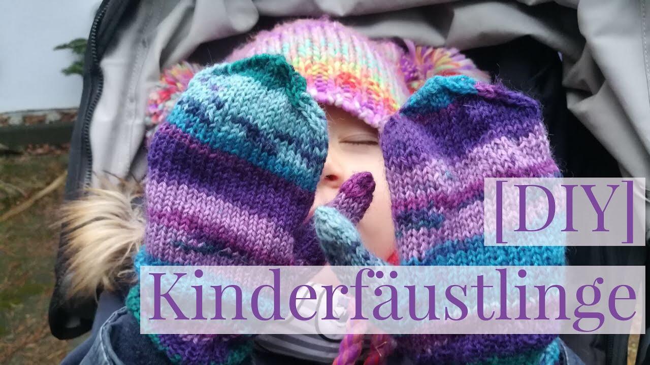 DIY] Kinderhandschuhe, Fäustlinge stricken ganz leicht, Schritt für ...