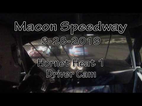 Macon Speedway Hornet Heat September 28 2019 Driver Cam
