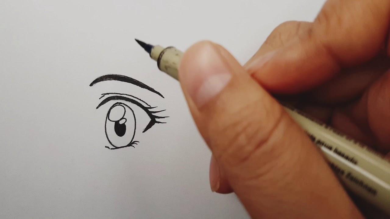 卡通/漫畫/少女眼睛1-《漫畫繪畫教學1》(Cartoon / Comic / Eye-Drawing-Painting teaching) - YouTube
