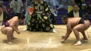 時間いっぱい4:09~ 遠藤の足腰いいねぇ sumo endo oosunaarashi.