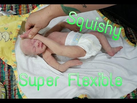 Gymnast Newborn Baby! Super Flexible Full Body Silicone Baby Doll! Real Life Like Doll! Reborn Baby