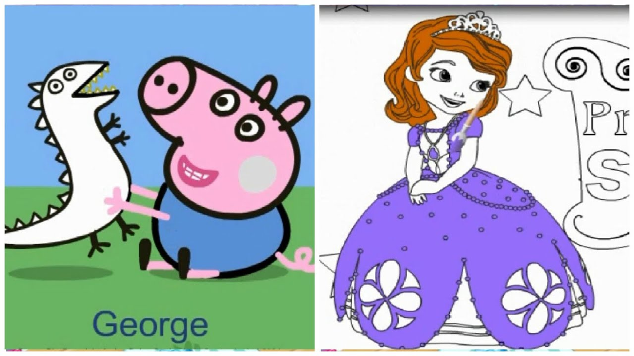peppa pig princess sofia ariel coloring pages peppa pig sofia