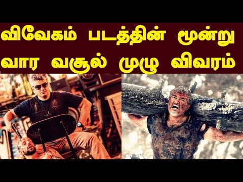 Vivegam 3 Weeks Worldwide Boxoffice Collection Report | Trendswood Tv