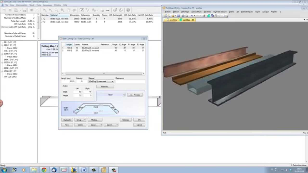 OptiCut Cutting Optimisation of Profiles, Batons and Mouldings | Wood  designer Ltd