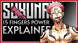How Much Powerful Is 15 Fingers 𝗦𝗨𝗞𝗨𝗡𝗔 + Stronger Than Gojo ?