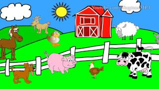 Chicken,Sheep,Cow,Horse,Pig Clock Sound ALARM - Ringtone Mp3