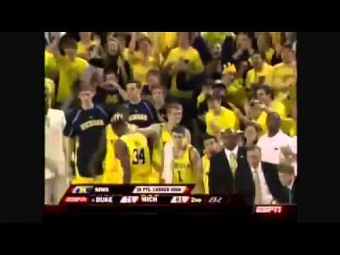 Michigan Basketball 2008-09 Highlights of NCAA Tournament team