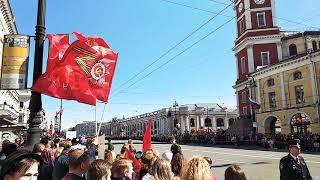 Смотреть видео 9.Мая Санкт Петербург, день победы,ураа. онлайн
