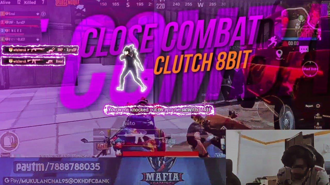 1 vs 3 against 8bit Mafia   Pubgmobile   2 Finger