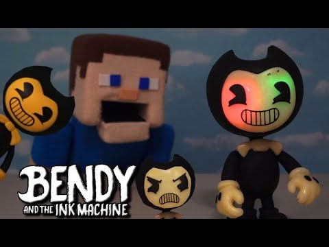 Bendy and the Ink Machine BOOTLEG 2-Face Action Figure Fake Toy Hack Batim Unboxing