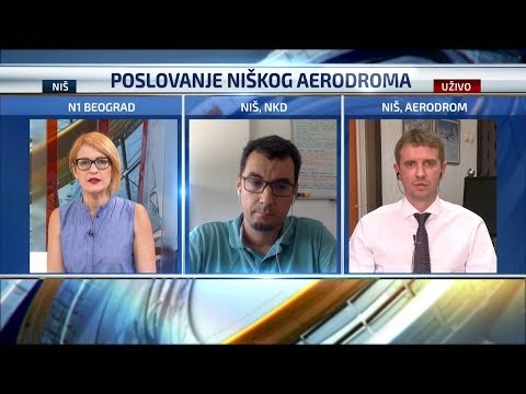 Dušan Knežević, dorektor Aerodroma Niš i Mladen Jovanović (NKD) o poslovanju Aerodroma