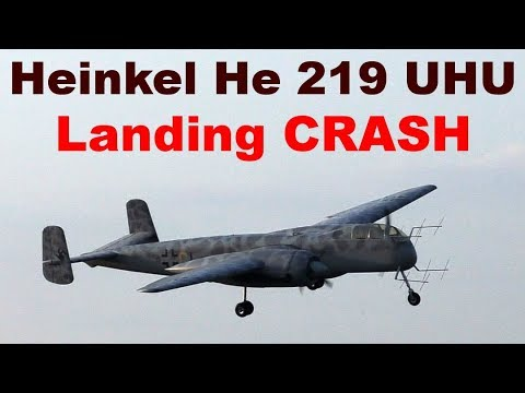 Landing Crash, Heinkel He 219 Uhu, Scale RC Aircraft, JMM 2019