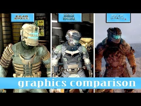 Dead Space 1 Vs Dead Space 2 Vs Dead Space 3 Comparison [ HD]