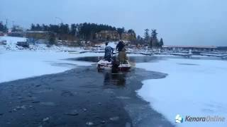 Boat Stuck In Ice