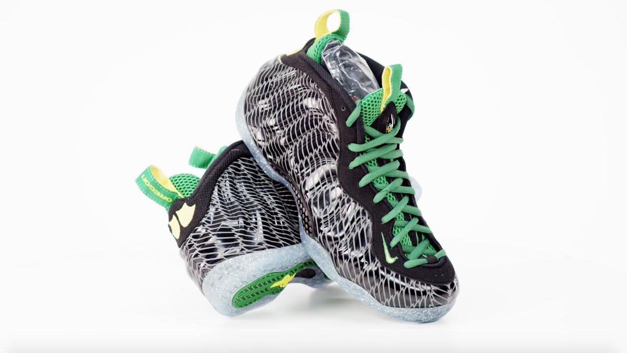 Sneakers In 4K Retro: Nike Air Foamposite One Oregon Ducks (2013)