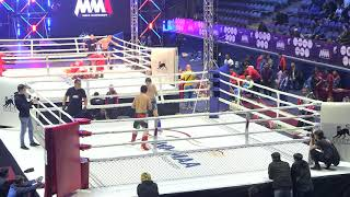 77,1kg: Shamil Musaev (Rus) vs. Tologon Rakhmanberdi Uulu (Krg). 2017 World MMA Championships