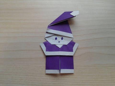 Origami - Hướng dẫn cách gấp Ông già NOEL kute đơn giản
