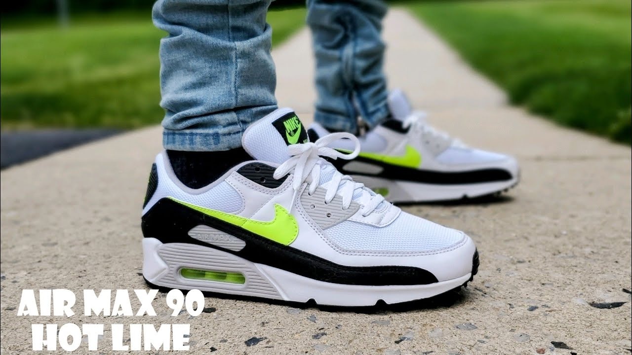 Air Max 90 White/ Hot Lime 2021 Unboxing & On Feet