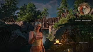 The Witcher 3 -  стражник палит голых девок в бане