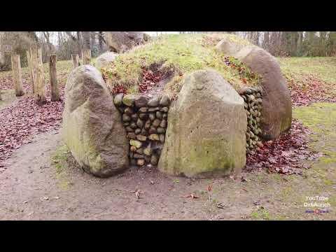 großsteingrab-botter-brood-kees-butter-brot-und-käse-hünengrab-begräbnisstätte-aurich-dji-mavic-mini