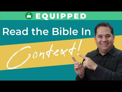 How to Study the Bible: The Importance of Context (Isaiah 43:18-19)
