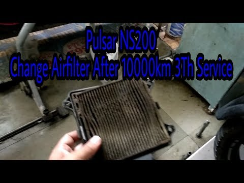 Pulsar Ns200 Change Airfilter After 10000Km | NS200 NS160