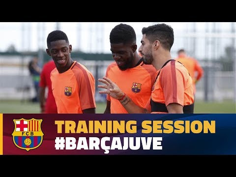 FC Barcelona: Last training session before Juventus visit