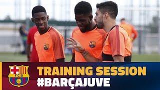 Last training session before Juventus visit