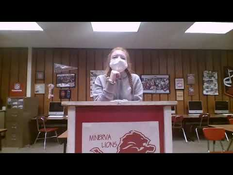 Minerva High School announcements for January 11, 2021