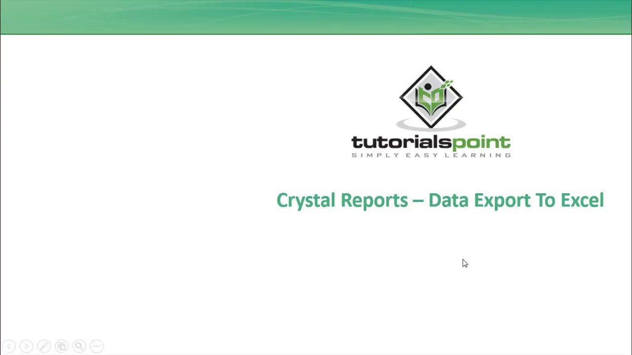 SAP Crystal Reports - Data Export to Excel