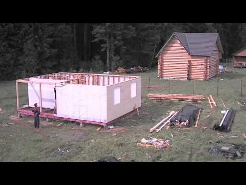 видео: Строительство каркасной бани