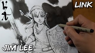 Jim Lee drawing Link from Legend of Zelda