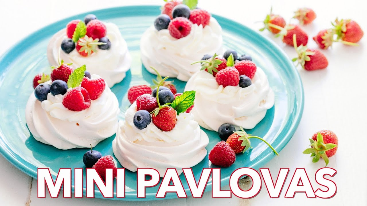 Dessert: Mini Pavlovas - Natasha's Kitchen - YouTube