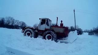 Полтавщина /Зима/Чистим дорогу/ Т-150К