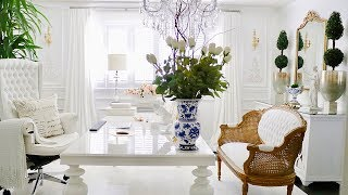 French Decor Office Tour 2019 Luxury Home Office Decorating ideas Glam Office Decor room Makeover