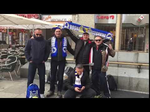 Navijači Bosne i Hercegovine u Beču (I)