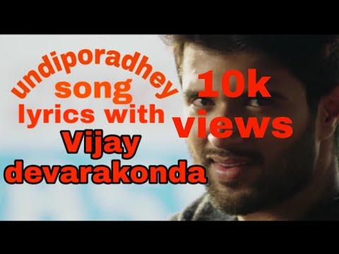 Undiporaadhey song lyrics | vijay devarakonda | husharu movie song